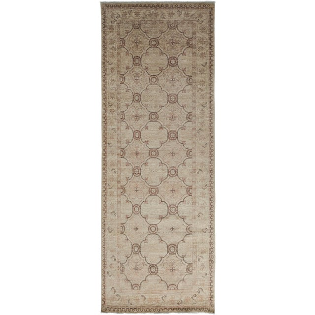 "Oushak, Hand Knotted Runner - 3'10"" X 10'0"" For Sale"