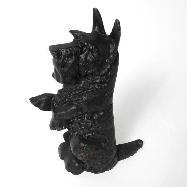 Black Cast Iron Scottie Dog - Image 4 of 5