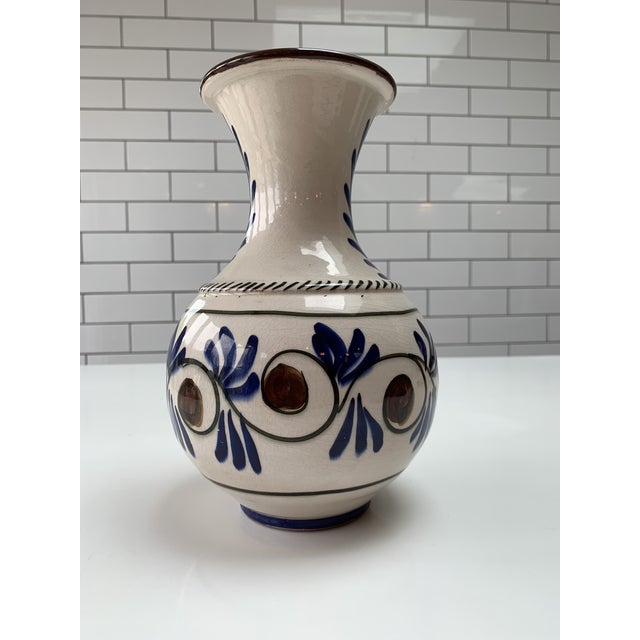 Mid-Century Modern Mid Century Modern Hand Painted Vase For Sale - Image 3 of 7