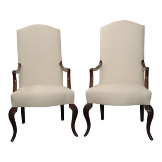 Pair of Referenced Armchairs by Jean-Charles Moreux For Sale