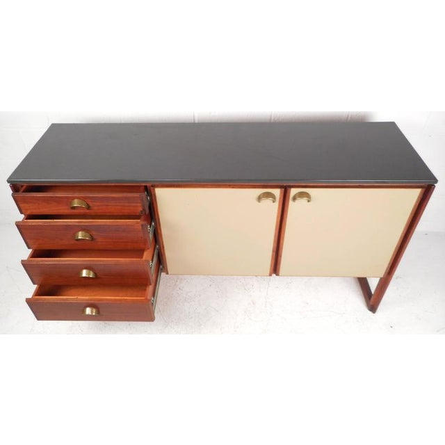 Mid-Century Modern Jens Risom Mid-Century Marble Top Sideboard For Sale - Image 3 of 9