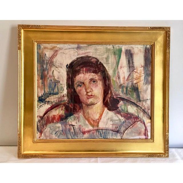 Vintage Modernist Portrait by Dorothy Loeb For Sale - Image 9 of 9