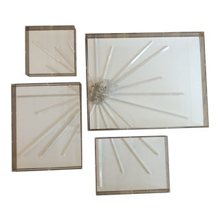 Nancy Price Abstract Selenite Starburst Rays With Quartz - Set of 4 For Sale