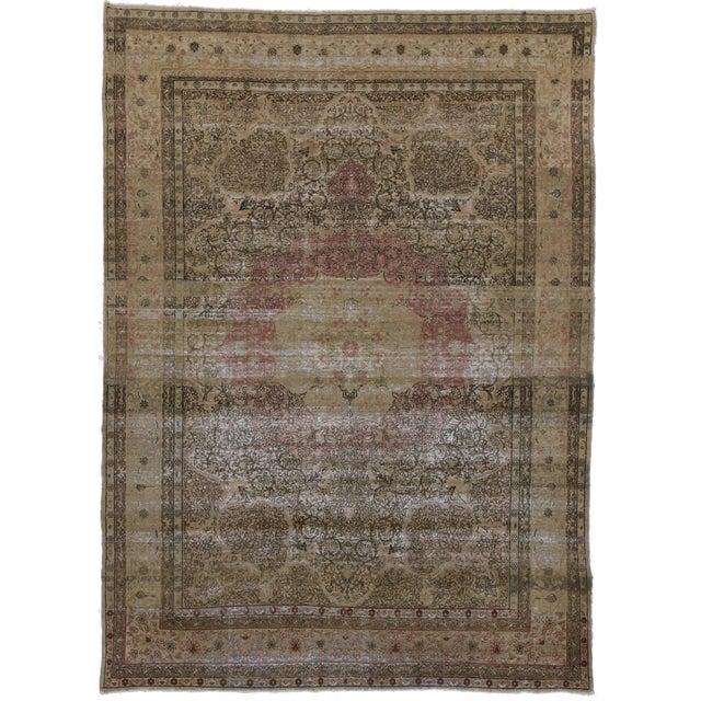 Antique Persian Kermanshah Area Rug - 09'05 X 13'02 For Sale - Image 4 of 4