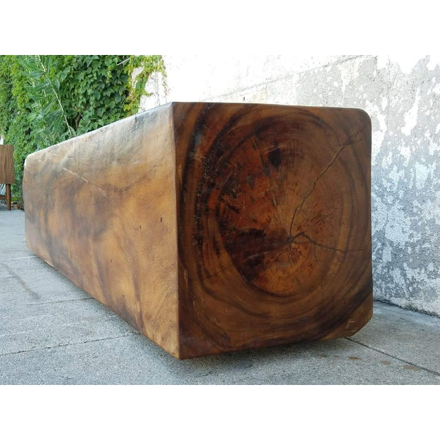 Vintage Solid Rosewood Bench For Sale - Image 4 of 5