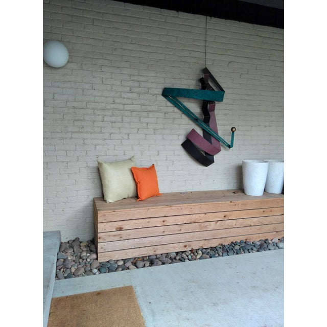 Abstract C. Jere 1980s Contemporary Wall Sculpture For Sale - Image 3 of 12
