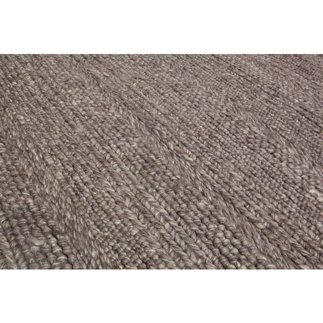 Hand Woven Brown Wool Rug - 9' x 13' - Image 4 of 6