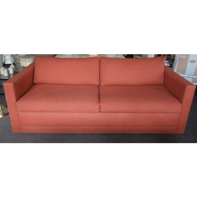 Cool 1970S Architectural Modern Rust Color Tweed Sofa Bed Chairish Onthecornerstone Fun Painted Chair Ideas Images Onthecornerstoneorg