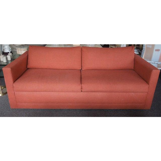 Amazing 1970S Architectural Modern Rust Color Tweed Sofa Bed Chairish Machost Co Dining Chair Design Ideas Machostcouk