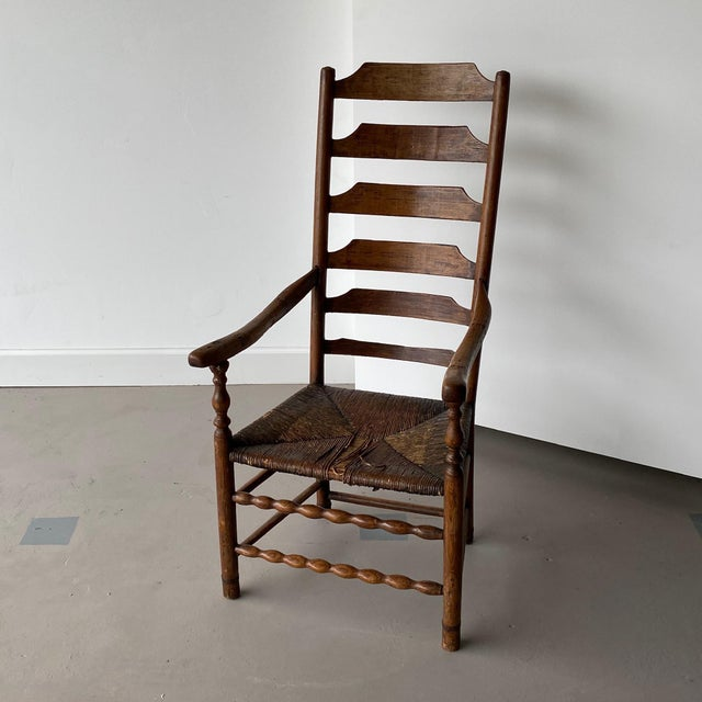 Early 20th Century Extended Ladder Farm Back Chair For Sale - Image 9 of 9
