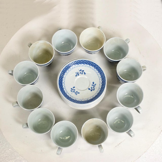 Mid Century Danish Modern Coffee Tea Cup & Plate Set for (12) Twelve Person, Royal of Copenhagen Era For Sale - Image 9 of 11