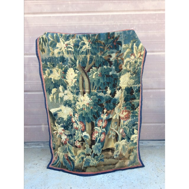 19th C. French Verdure Tapestry - Image 2 of 5