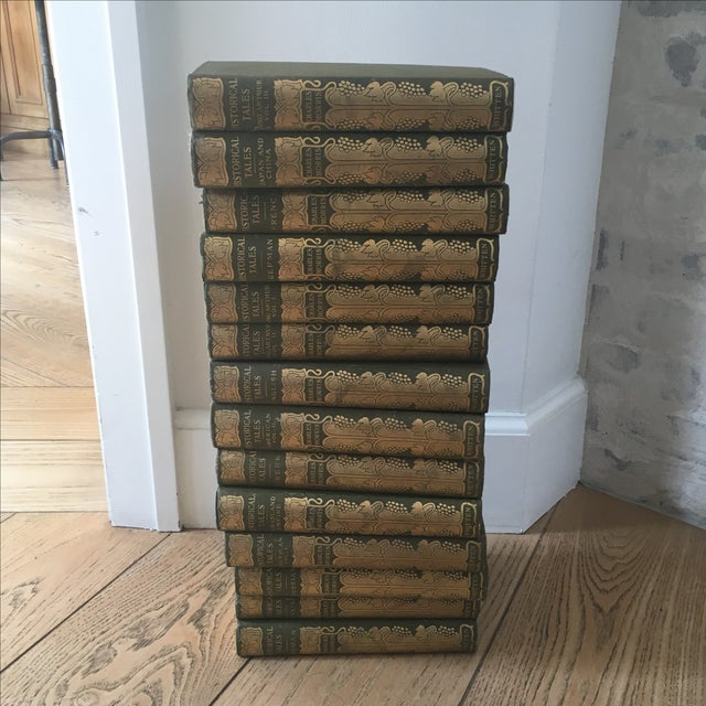 Antique 1904 Set of Green and Gold Books - 14 - Image 2 of 8