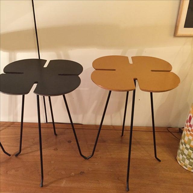 Vintage Clover Leaf Nesting Tables - Set of 3 - Image 6 of 11