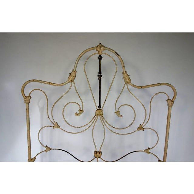 Classic Victorian Wrought Iron Bed - Image 5 of 7