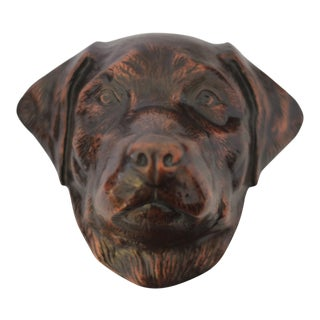 Bronze Labrador Dog Door Knocker For Sale