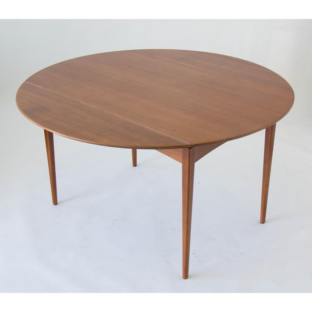 Drop-Leaf Dux Dining Table - Image 4 of 8
