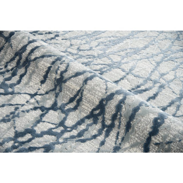 """Contemporary Stark Studio Rugs Jeeves Rug in Blue, 2'7"""" x 7'7"""" For Sale - Image 3 of 7"""