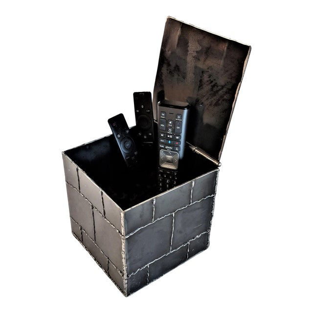 Brutalist Metal Box Hand Welded Box For Sale
