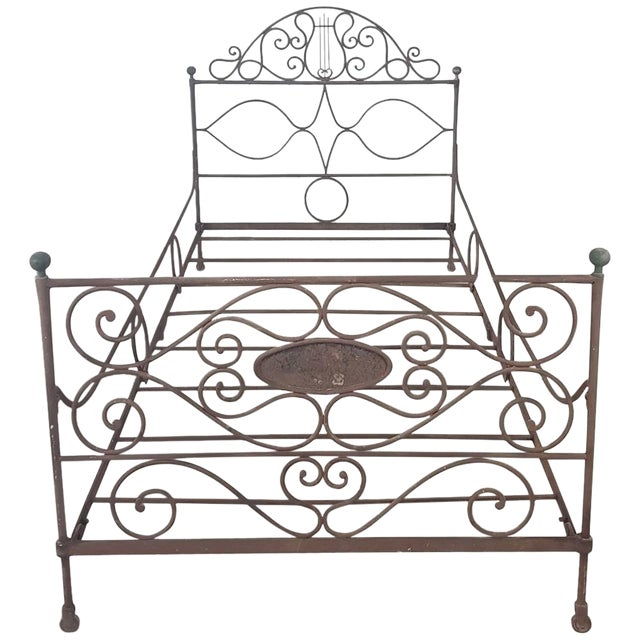 19th Century Empire Iron Single Bed For Sale