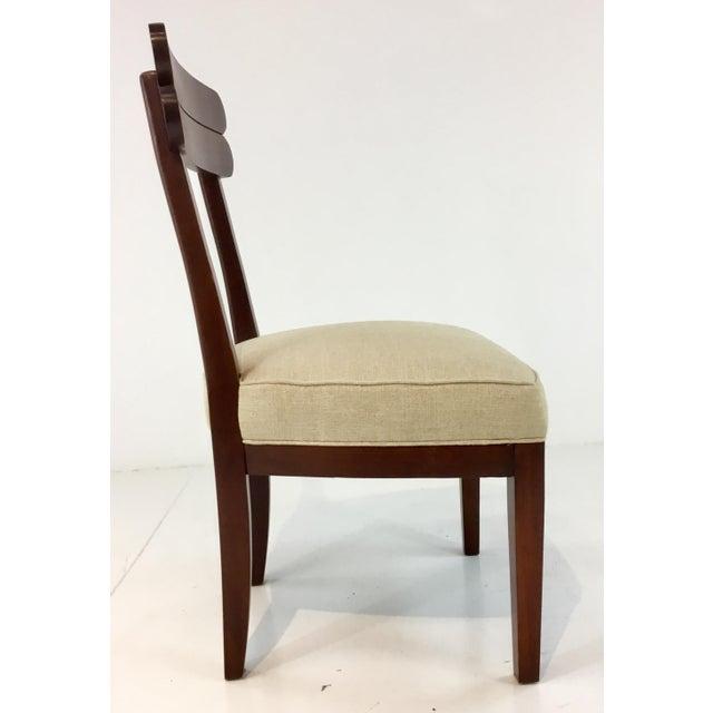 Transitional Hickory Chair Cream Linen Southfield Chair Chairish