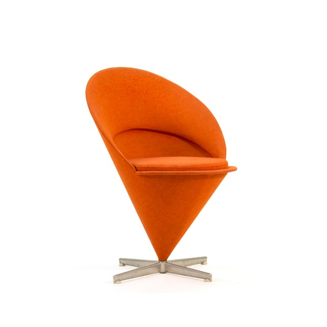 1950s Contemporary First Series Verner Panton Cone Chair For Sale - Image 11 of 11