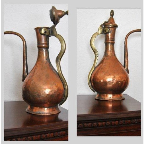 19th Century Ottoman Persian Islamic Tinned Copper Ewer/Washing Pitcher For Sale - Image 4 of 8