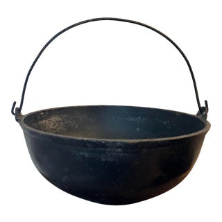 Antique Cast Iron Pot With Handle For Sale