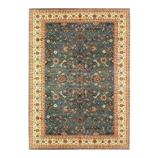 Pasargad Light Green Color Fine Hand Knotted Tabriz Rug-12' X 18' For Sale