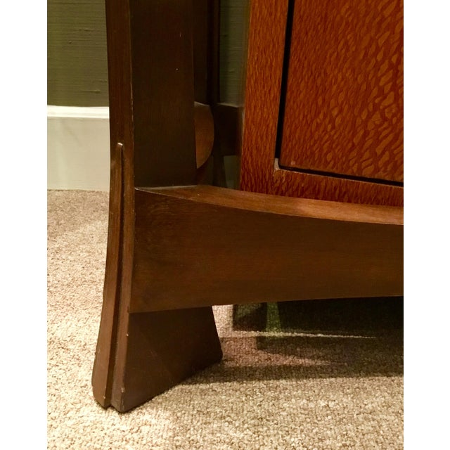 Brown Sculptural 2-Toned Sideboard For Sale - Image 8 of 9