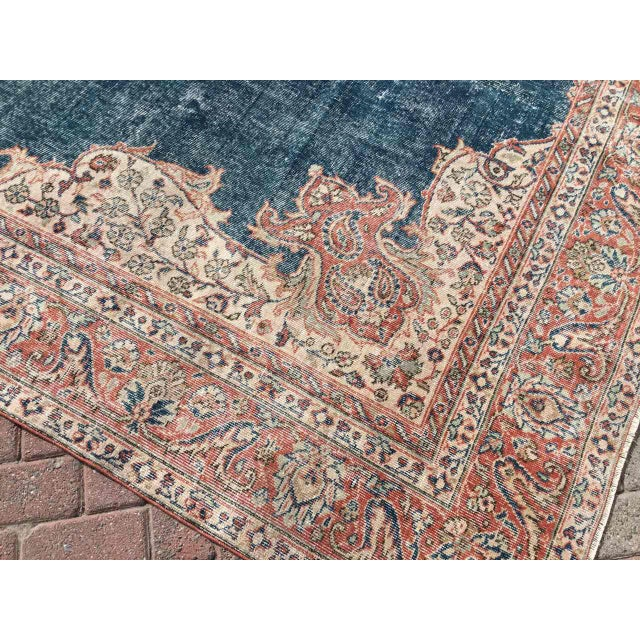 Large Distressed Oushak Rug For Sale - Image 9 of 13