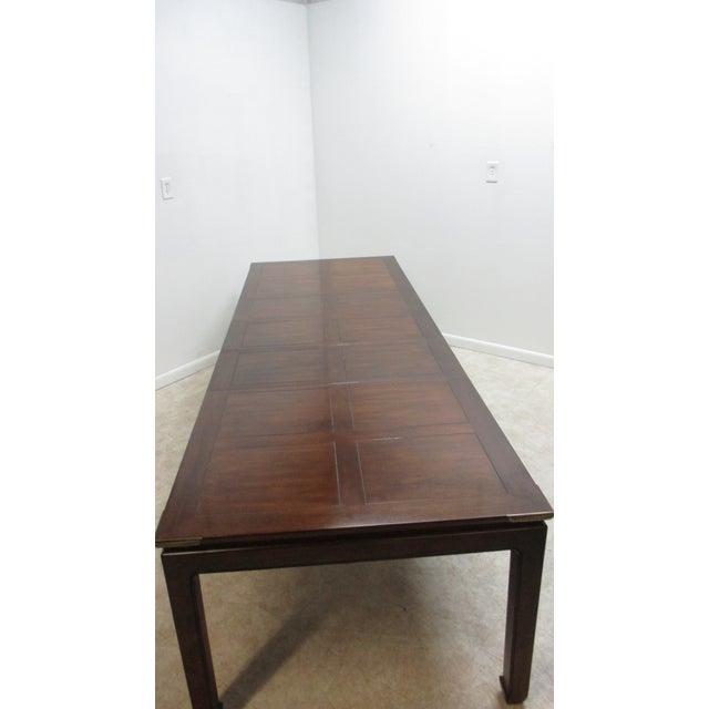 Chippendale Henredon Pan Asian Dining Room Conference Table For Sale - Image 11 of 13