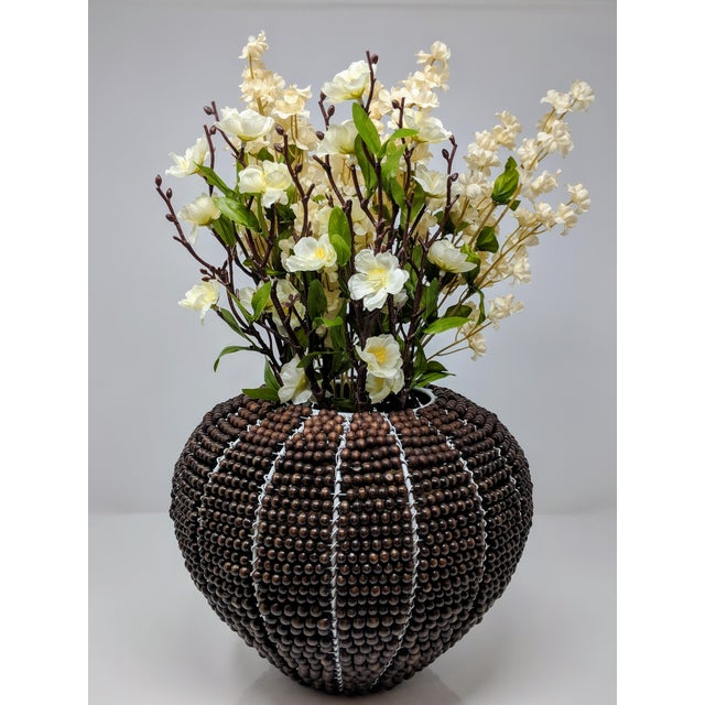 African Tribal Fair Trade Beaded Vase For Sale - Image 3 of 13