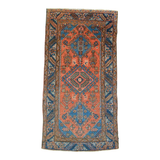 "Antique Persian Heriz Rug - 3' x 5'7"" - Image 1 of 11"
