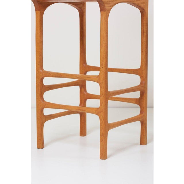 1970s Pair of Tall Back Studio Bar Stools, Us, 1970s For Sale - Image 5 of 7