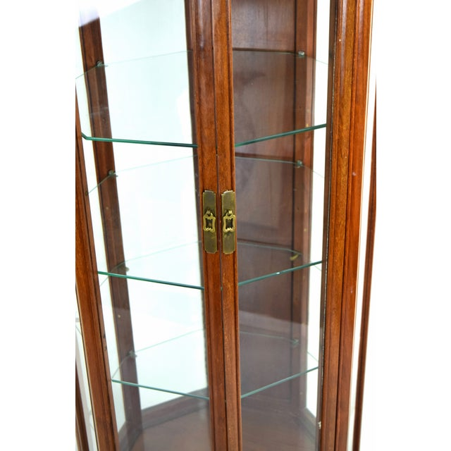 Late 20th Century Vintage Asian Rosewood Octagonal Curio China Cabinet For Sale - Image 5 of 12