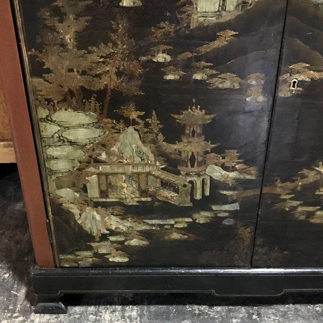 Chinese Ming Style Lacquered Bookcase or Cabinet - Image 7 of 11