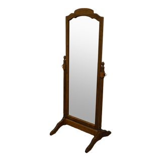 Ethan Allen Heirloom Nutmeg Maple Swivel Floor Mirror For Sale