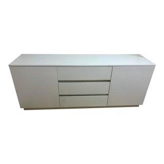 Contemporary White Vinyl Crocodile Cabinet For Sale