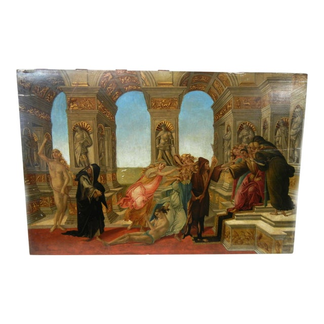 18th Century Antique Italian Renaissance Calumny of Apelles After Sandro Botticelli Print For Sale