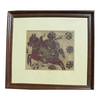 Framed Kalamkari Textile, Moghul Empire For Sale