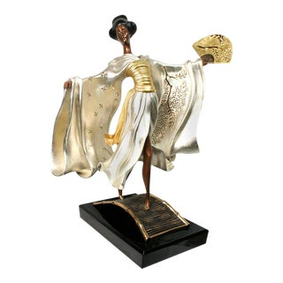 "Erté ""Asian Princess"" Bronze Sculpture For Sale"