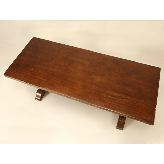 French Trestle Table in Solid Mahogany For Sale - Image 11 of 11
