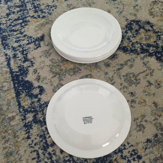 Vintage Corning Pyroceram Tableware White Dessert Plates - Set of 6 - Image 9 of 11