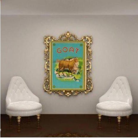 Vintage 'Goat Fabric Label' Archival Print - Image 2 of 3