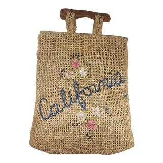 1950s Vintage California Jute Shopper For Sale