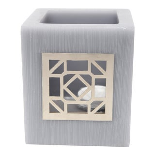 Small Gray Kasbah Tealight Holder For Sale