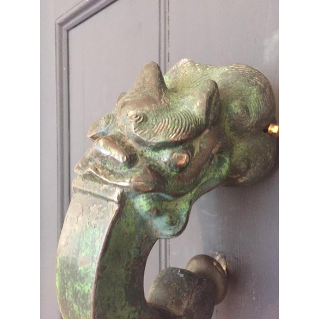 Late 18th Century 18th Century Chinese Bold Bronze Doorknocker For Sale - Image 5 of 7