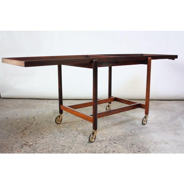 1960s Poul Hundevad Rosewood Modular Bar Cart For Sale - Image 5 of 13