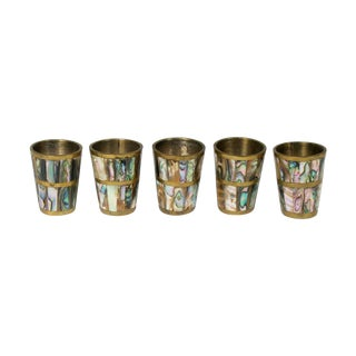 Mexican Abalone Shot Glasses - Set of 5